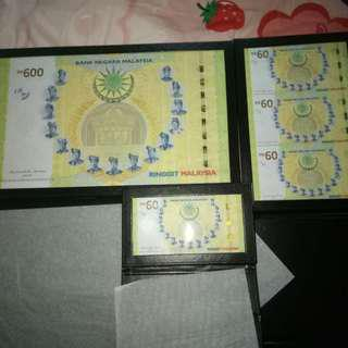 Rm 600 commerative banknote set
