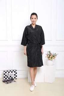 Salon customer silk kimono