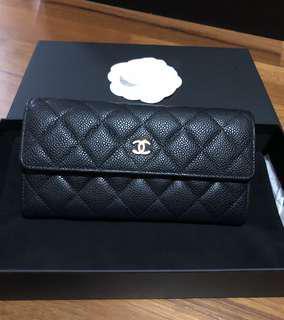Chanel Caviar black Wallet GHW