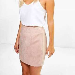 Boohoo faux suede skirt