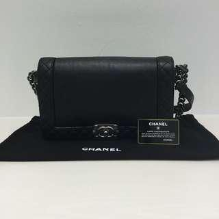 Chanel Black Calfskin Medium Boy Reverso Flap 91761323b9802
