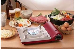 Iwatani slim gas cooker, red color
