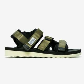 SUICOKE Olive Velcro Sandals UK 9