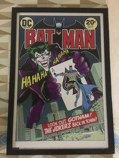Batman and Joker poster with frame