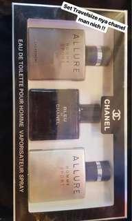 Chanel men travel size set