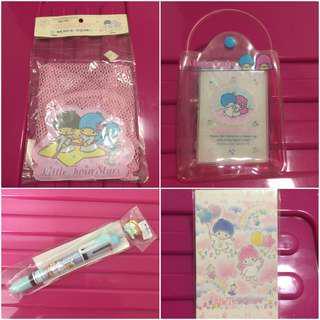 Sanrio Little Twin Stars (4 件 ~ 不散賣) 包裝有歲月痕跡 (** 只限北角地鐵站交收 **)