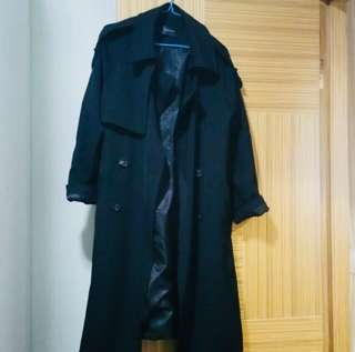 Made in Korea Jacket coat 乾濕褸 黑色 trench coat