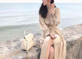 London cotton beige dress one piece