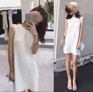 london knit dress one piece milk white