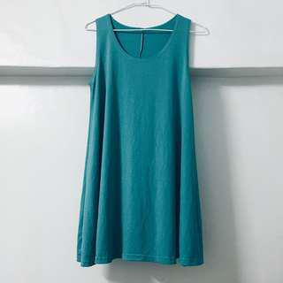 🚚 (全新)草綠色寬鬆連身裙
