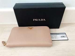 🚚 100% Authentic Prada Portafoglio Lampo Long Wallet