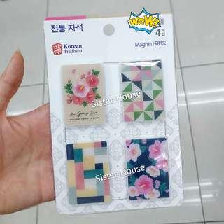 (包郵)🇰🇷 Daiso Korean Traditional Magnet Set 大創韓國傳統磁石套裝