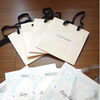 【名牌專櫃紙袋】Jill Stuart紙袋-黑緞帶小袋 吉麗絲朵
