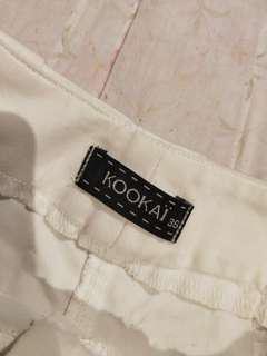 White kookai shorts