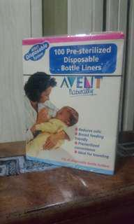 Avent disposable feeding bottle liners or drop ins