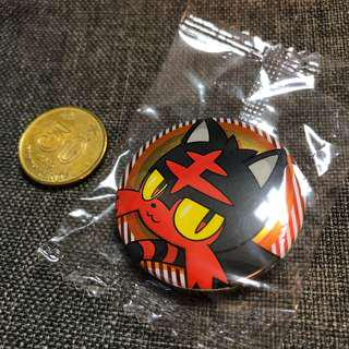 【特典】Pokemon 太陽月亮 火主 火紋貓 襟章