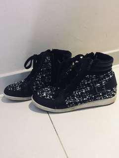 Dap Classic Heel Platform Shoes Black
