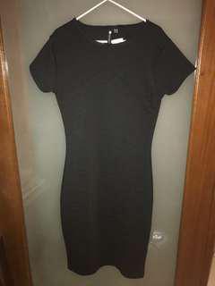 Cotton On Tori Textured Bodycon Black Dress