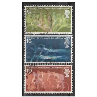 Great Britain 1970 Commonwealth Games set of 3V Used SG#832-834 (S1058)