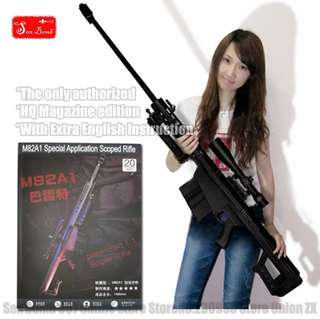 100% Scaled Barrett Sniper Rifle 3D Models Gun Toys