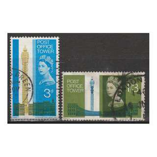 Great Britain 1965 Opening of Post Office Tower set of 2V Used SG#679-680 (S1035)