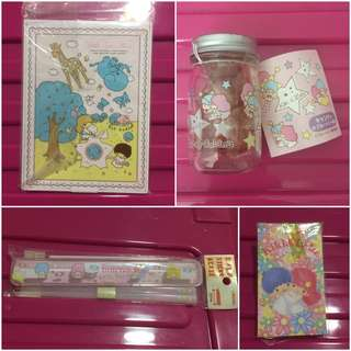 Sanrio Little Twin Stars (4 件 ~ 不散賣) (鏡有用過痕跡) (** 只限北角地鐵站交收 **)