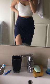 Navy Kookai Midi skirt size 1