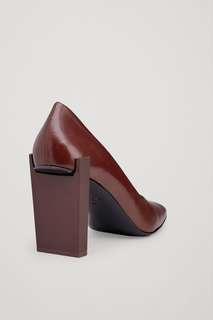 COS Maroon Square-toe heels