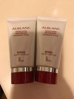 Sofina Alblanc Medicated Whitening Massage Pack 美白 洗面膏