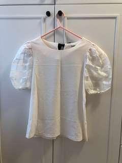 韓國白色上衣 white top from Korea #GOGOVAN50