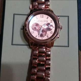 givenchy earring and mk watch bundle