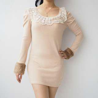 #Merdeka73 KNIT FUR DRESS