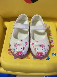 Hello Kitty White Doll Shoes with Lights