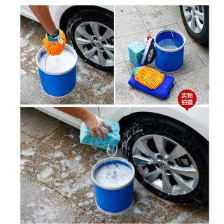 13L Collapsible Water Bucket Pail Container Waterproof Multi Purpose Car Washing Fishing Camping Outdoor Water Drinks Container