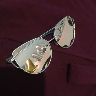 Cat Eye Rose Gold Sunglasses