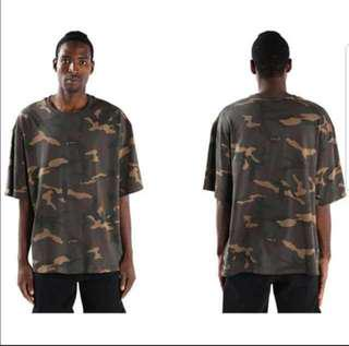 💪💪(S~5XL) Oversized Camo Tee t-shirt extra large pullover