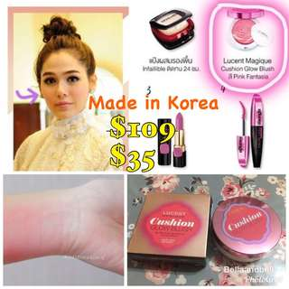 SALES 🔥 【$109】L'Oreal Lucent Magique Cushion Glow Blush P2 Pink Fantasia 11 g ***Made in Korea 韓國製造