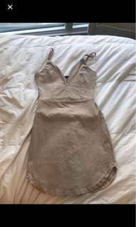 Plunge neck line dress from Mendocino
