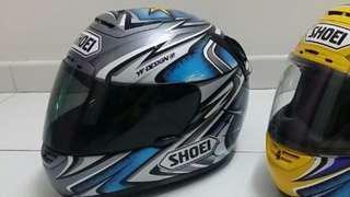 Original Shoei X11 Kato #74 limited edition collectors helmet (Left Blue/Grey)