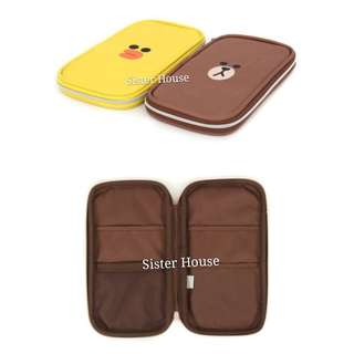 🇰🇷 LINE Friends Brown Sally Multi Flat Case 多用途袋