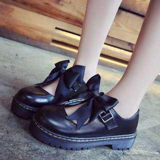 Black Lolita Shoes / Black School Shoes