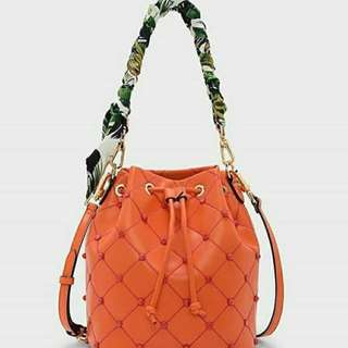 [ORIGINAL 100%] EMBLLISHED QUILTED CHARLES & KEITH
