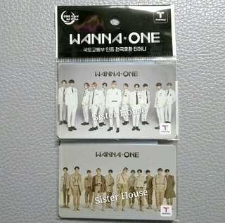 (包郵限量版現貨2張)🇰🇷Wanna One T Money 韓國交通卡