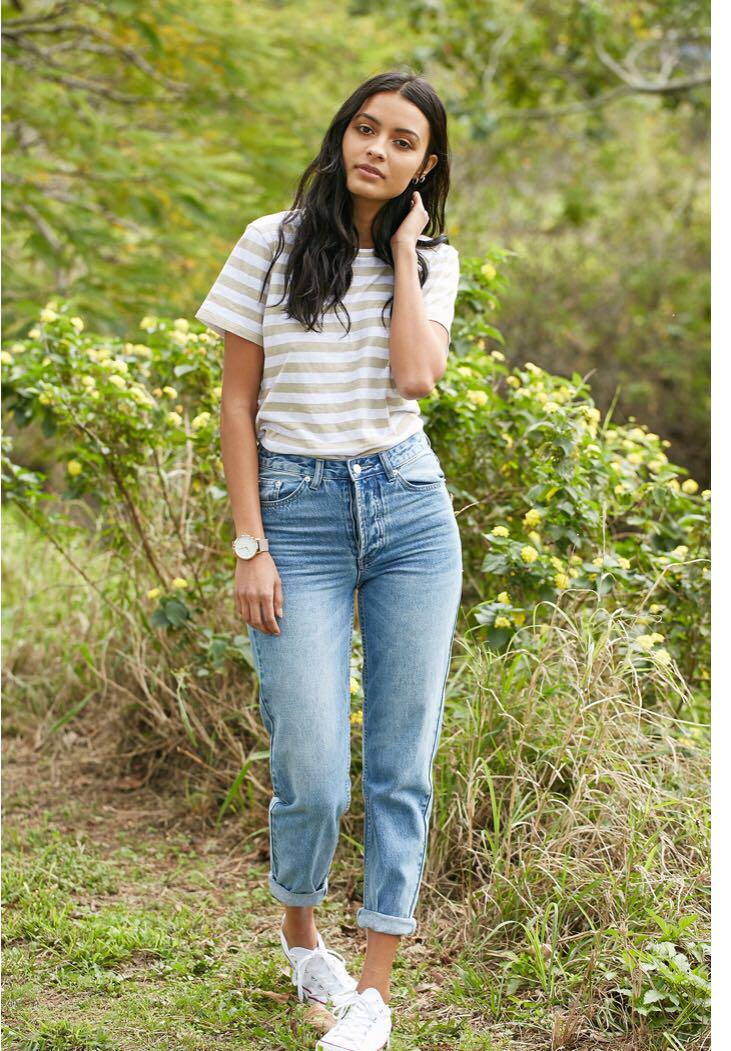 Assembly label high waisted blue boyfriend jeans