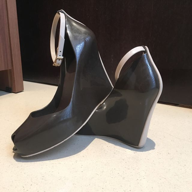 fd0e7026651 Authentic Melissa Peep Toe Wedge Heels