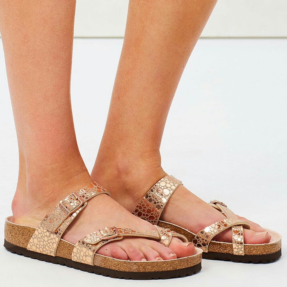 2bac425f207 BIRKENSTOCK Mayari Sandals Metallic Copper