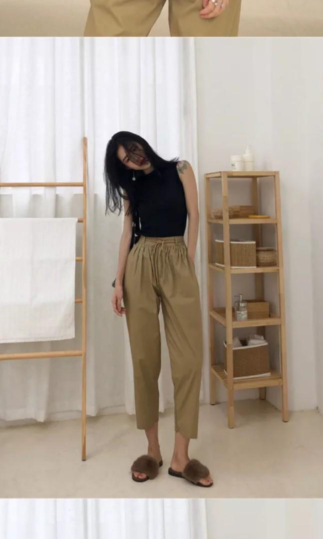 quality 100% high quality Super discount BN// BLACK TOP X KHAKI PANTS (SET), Women's Fashion, Clothes ...