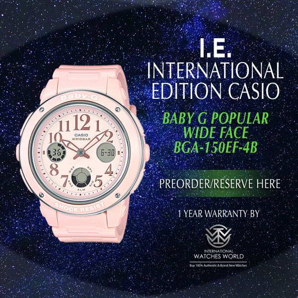 3d8ebeb01a CASIO INTERNATIONAL EDITION BABY G WIDE FACE SERIES BGA150EF-4B