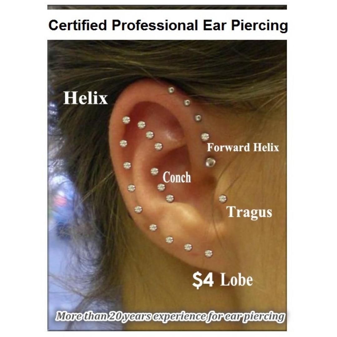 Certified Professional Ear Piercing Women S Fashion Jewellery