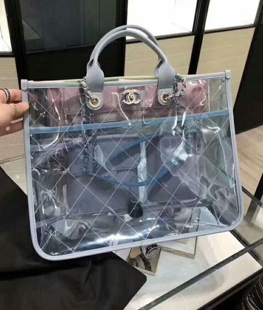 00c0213aafb37 Chanel pvc tote bag